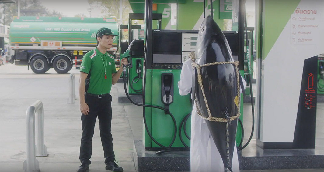 Leo Burnett Thailand introduces the master of freshness to PT service stations to determine how fresh their retail offering is
