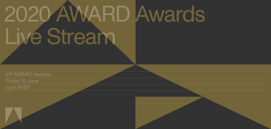 Break out the drinks + tune into the 2020 AWARD Awards virtual show TODAY Friday 12 June at 3pm AEST