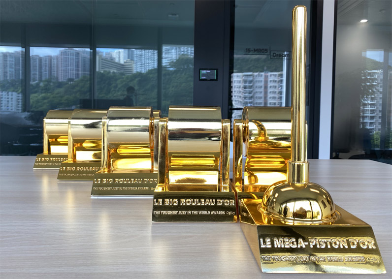 Chando Love Lines takes out the Le Mega-Piston d'Or at Ogilvy Asia's The World's Toughest Jury in the World Awards