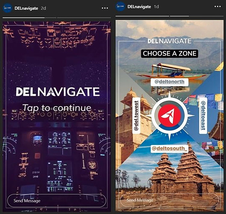 Delhi Airport allows travellers stuck at home to experience India virtually in Instagram campaign via 22feet Tribal Worldwide