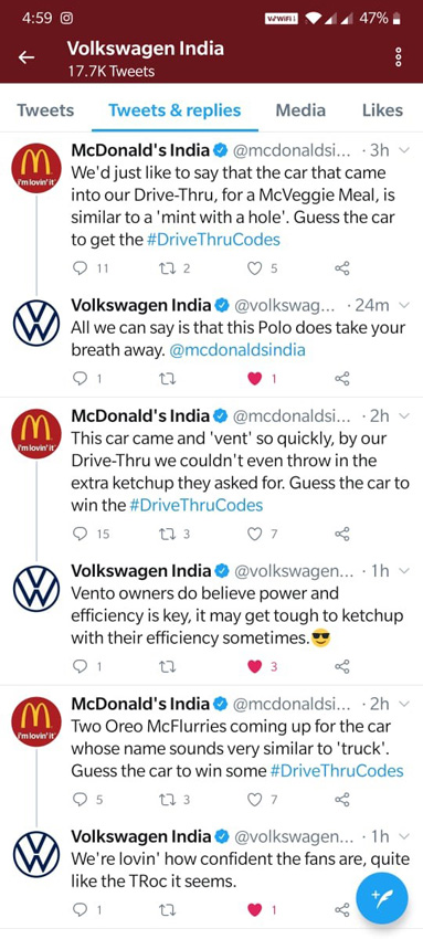 22feet Tribal Worldwide India and McDonald's India challenged drive-thru customers to guess car riddles for free food coupons to celebrate national drive thru day