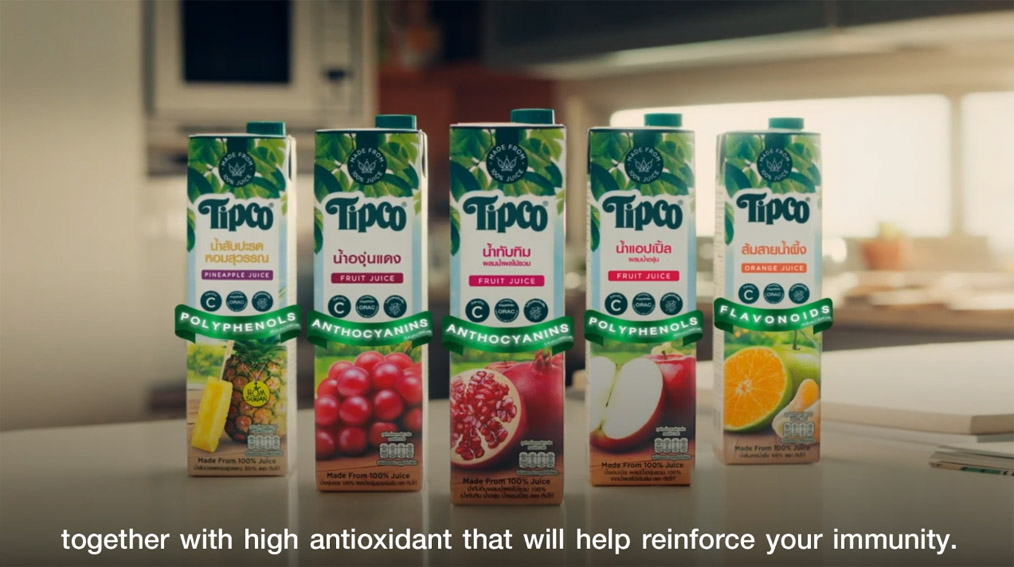 Brilliant & Million Thailand promotes TIPCO fruit juice as an affordable health insurance purchase