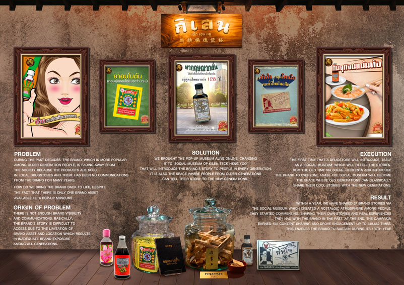Brilliant & Million Thailand helps traditional Chinese herbal brand Kilen Teck Heng Yoo reach the younger generation with Social Museum campaign