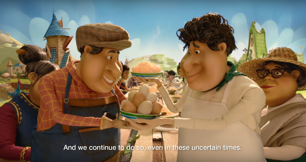 TBWA\Singapore launches new animated campaign for Standard Chartered Bank which follows the journey of a chicken bringing two villages together