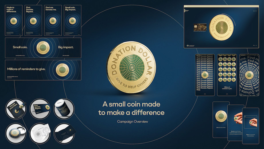 Seen+Noted: The Royal Australian Mint creates millions of new ways to donate with the launch of 'Donation Dollar'