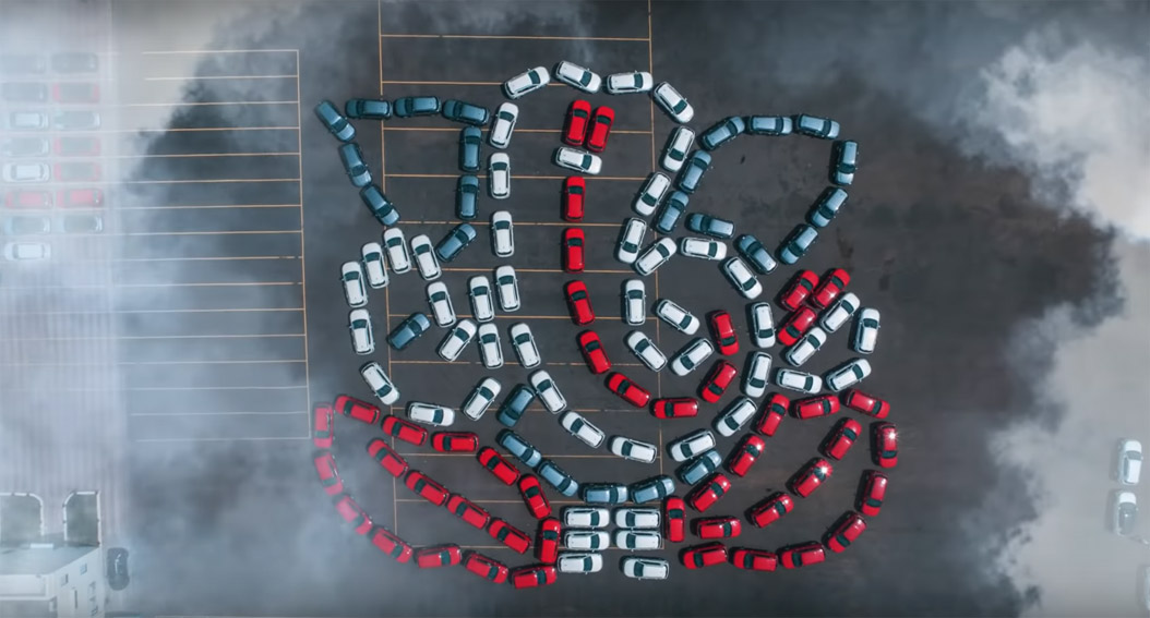 Leo Burnett and Jeep India celebrate Ganesh Chaturthi festival with a Ganesha made of 122 Jeep Compass SUVs