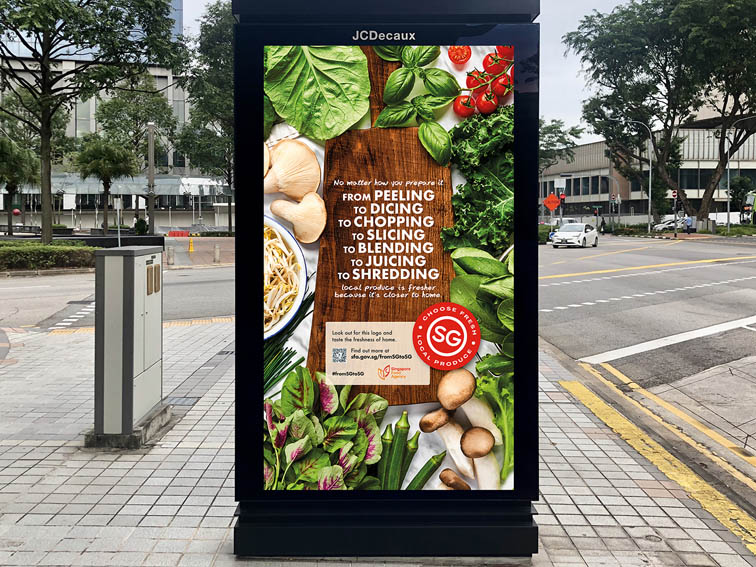 Grey Group Singapore launches new campaign for the Singapore Food Agency which coincides with the agency's new Sustainability Practice