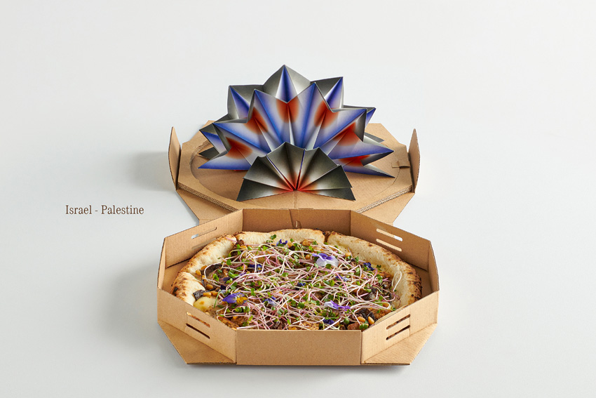 To celebrate world peace day Ki Saigon and Pizza 4Ps use pizza ingredients to bring countries in conflict together