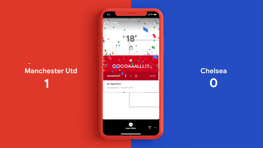 Toaster Singapore releases Google Insta-Highlights campaign recreating late-night football matches as daily Instagram stories