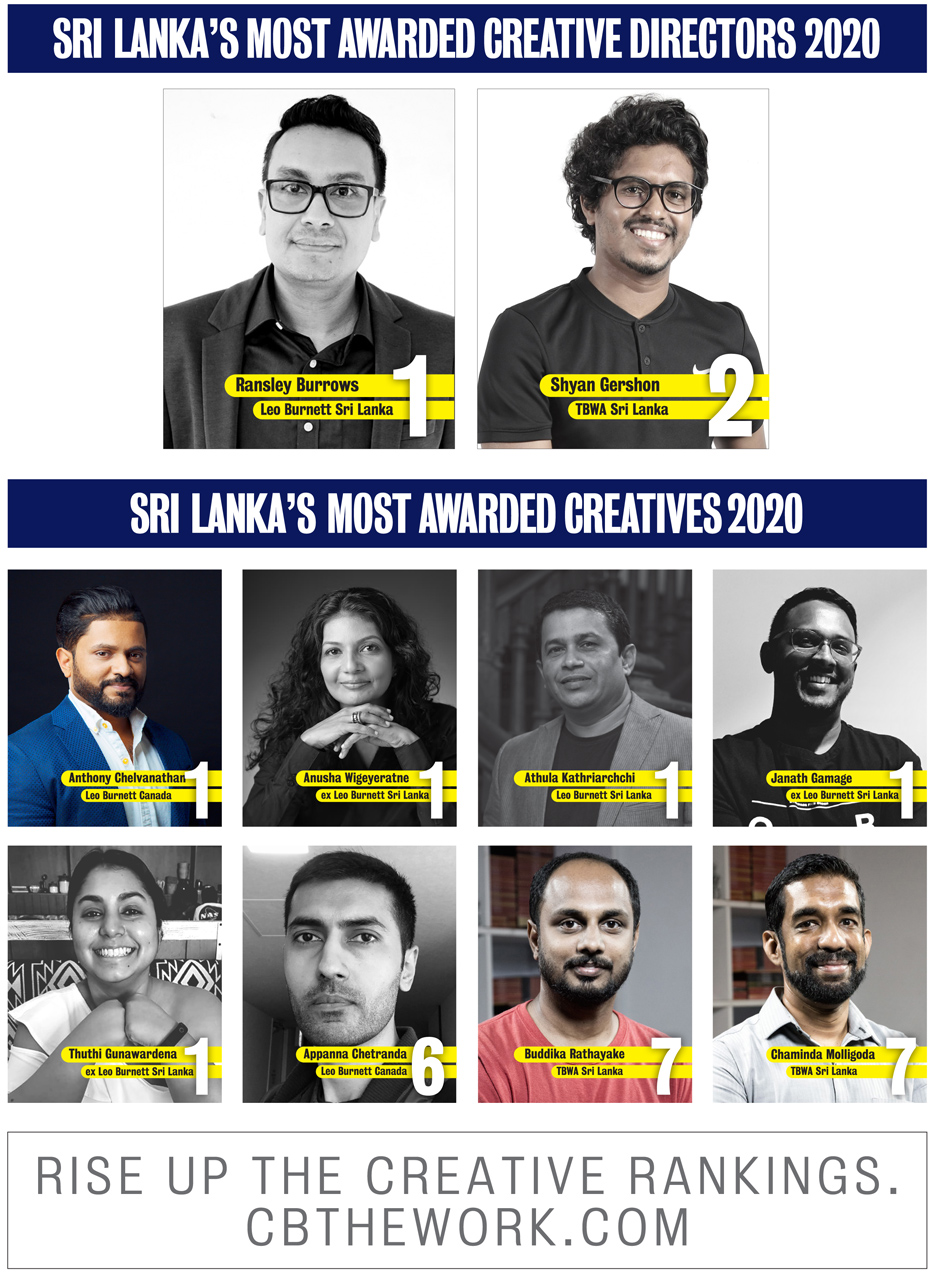 Campaign Brief Asia 2020 Sri Lanka Creative Rankings: Leo Burnett takes out Creative Agency of the Year award with TBWA and Triad ranked #2 and #3