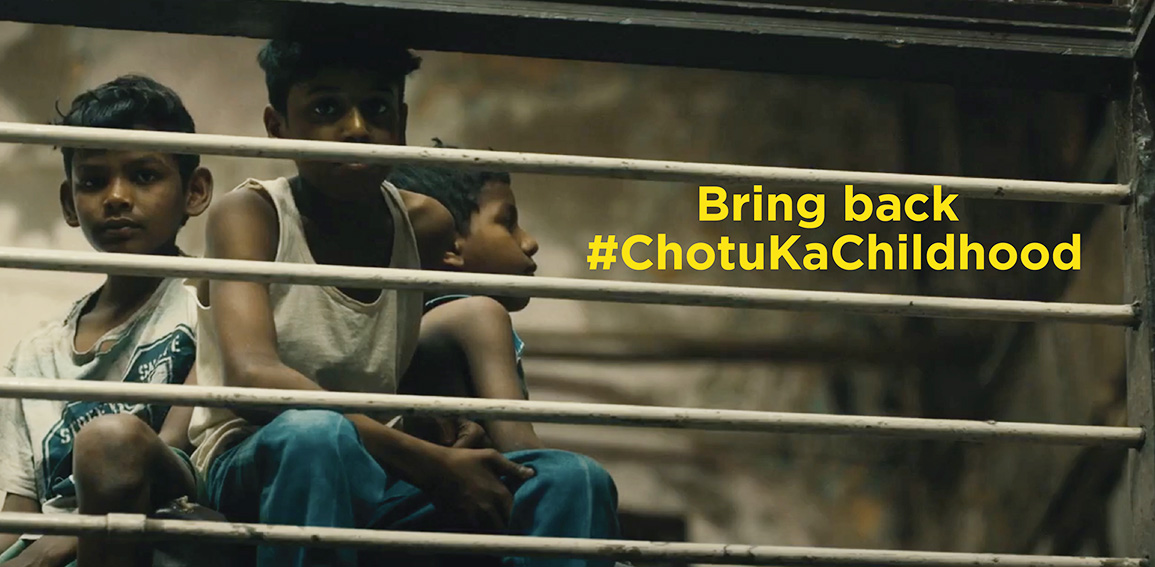 dentsu Impact releases confronting film on Children's Day for My Choices Foundation that highlights the staggering fact that 1 in 11 children in India works as a child labourer