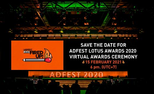 AdFest Lotus Awards 2020 Virtual Awards ceremony set for Monday, February 15, 2021