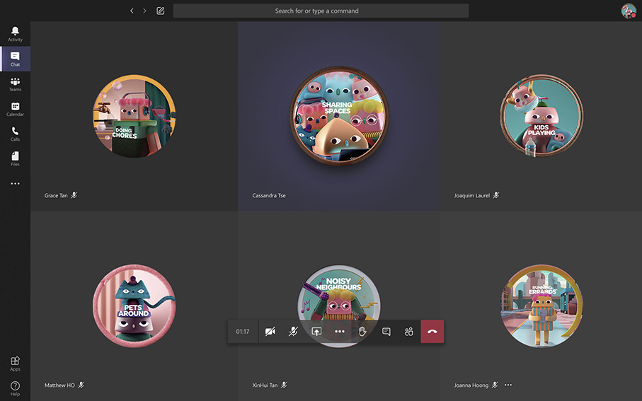 Digitas Singapore creates 'On Mute Cos' visuals for your working from home virtual meetings