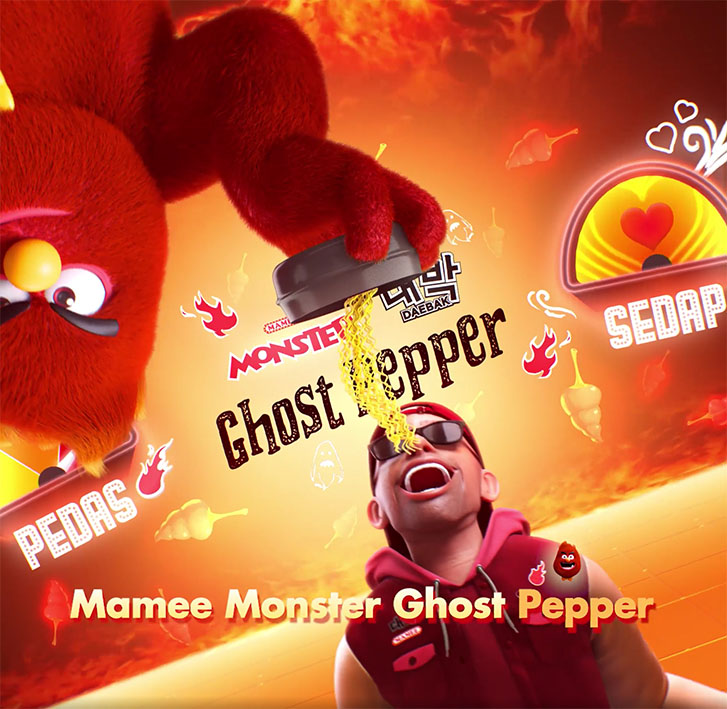 Adjust your spice level to your own liking with Malaysia's new Mamee Monster and Daebak Ghost Pepper instant noodles