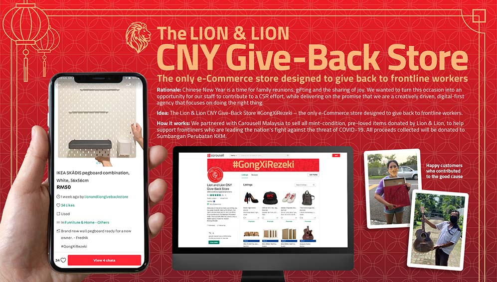 Lion & Lion raises funds for frontliners in Malaysia this Chinese New Year with Give Back e-Commerce Store