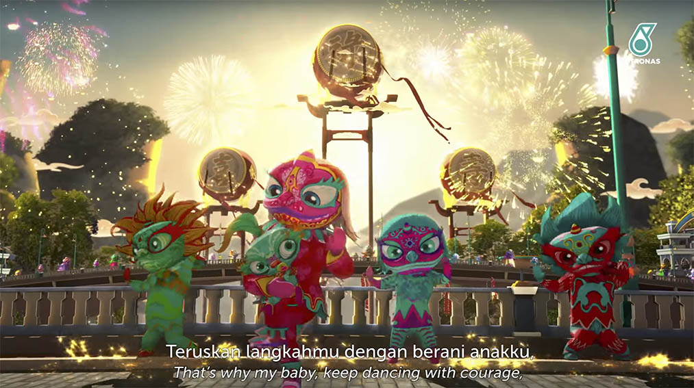 PETRONAS CNY film via Ensemble Worldwide Malaysia celebrates the courage and heritage of the lion dancer