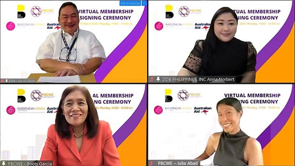 DDB Group Philippines becomes first advertising group to join Philippine Business Coalition for Women Empowerment