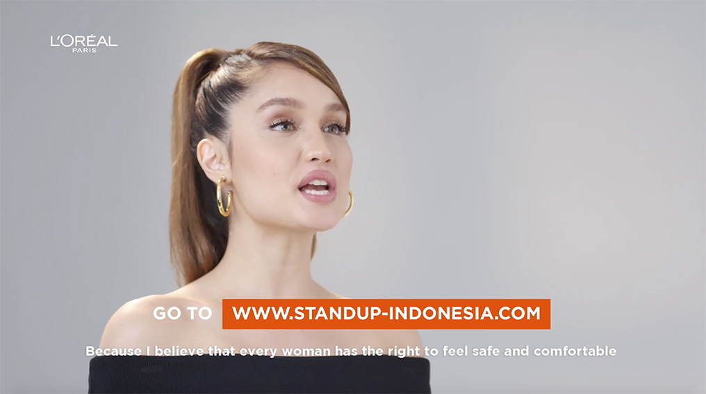 Actress Cinta Laura Kiehl urges Indonesians to stand up against sexual harassment in new L'Oreal Paris campaign via M&C Saatchi