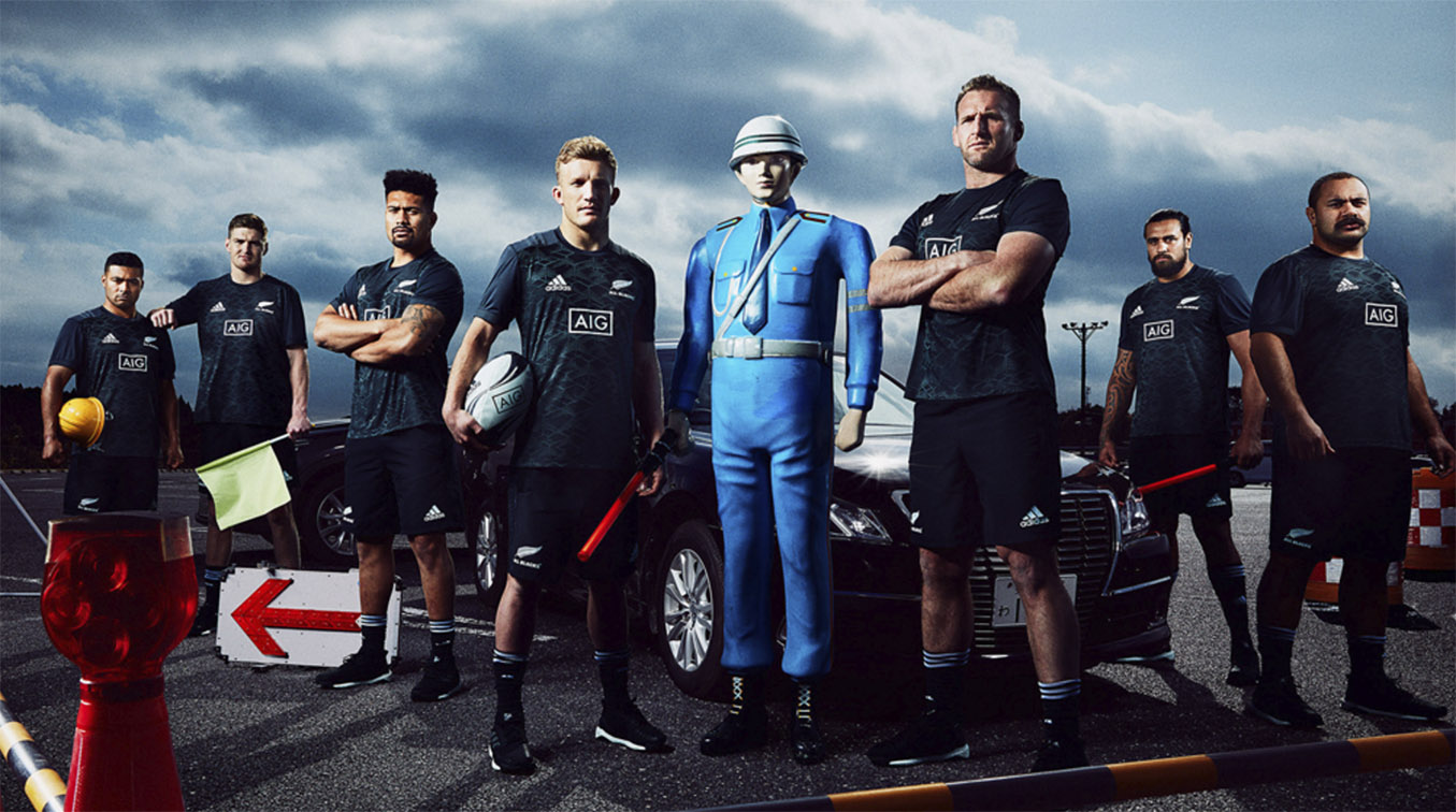 All Blacks blast from the past: Behind the scenes insights into AIG's 'How not to drive in Japan' campaign