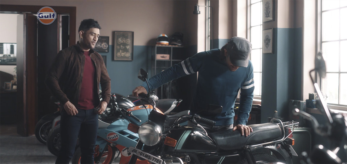Cricket legend MS Dhoni takes a trip down memory lane with his younger self in Gulf Oil India's latest spot via DDB Mudra Group India