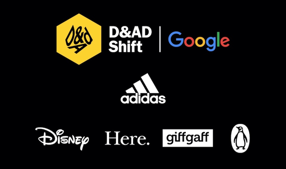 Global brands partner on D&AD Shift with Google to support emerging talent in securing paid opportunities within the creative sector