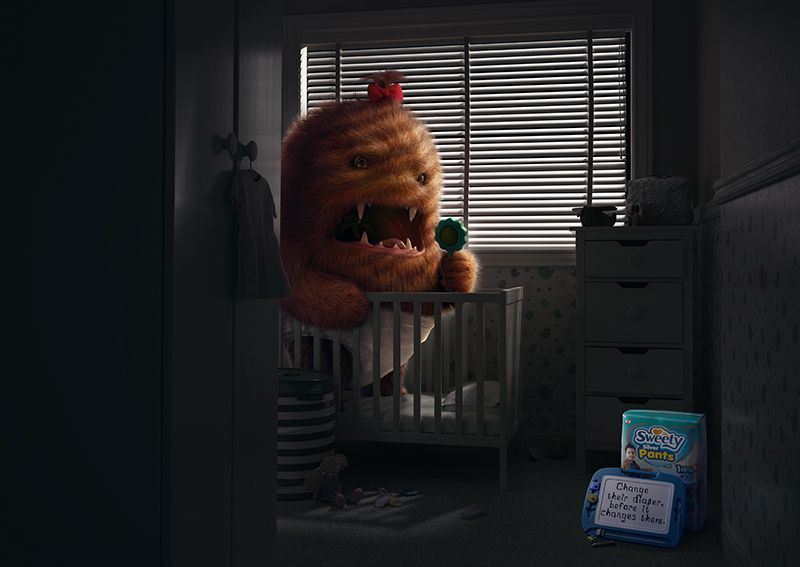 BBDO Indonesia + BBDO Guerrero Philippines launch campaign for Sweety warning parents to change their kids diaper before it changes them