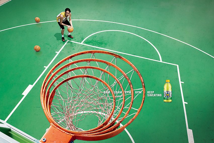 Leo Burnett Thailand shows how M-Electrolyte will help you work tirelessly to excel in sport