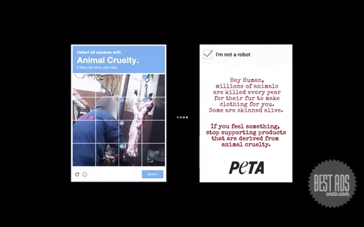 Ogilvy Thailand exposes animal cruelty for PETA through the Human Check Captcha campaign