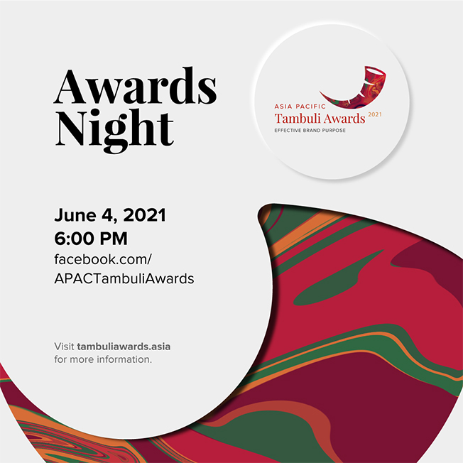 This year's 2021 Asia Pacific Tambuli Awards night virtual show to be held June 4th