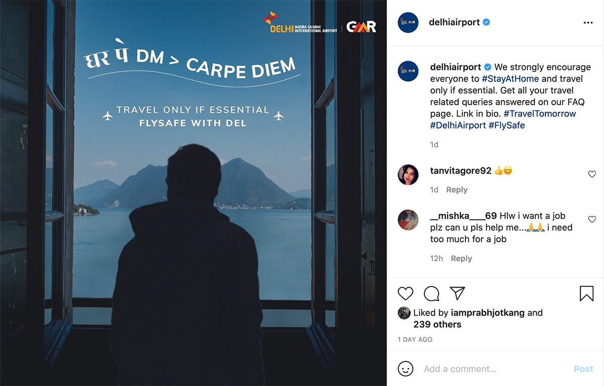 22Feet Tribal Worldwide India releases social media campaign for Delhi International Airport encouraging passengers to rethink their travel plans