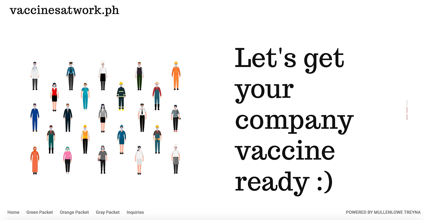 Vaccinesatwork.ph and MullenLowe TREYNA help employers get people safely back to work