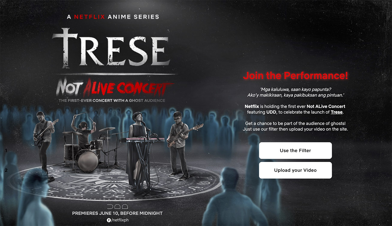 Netflix launches Not Alive Concert for Netflix 'Trese' animated series via GIGIL Philippines