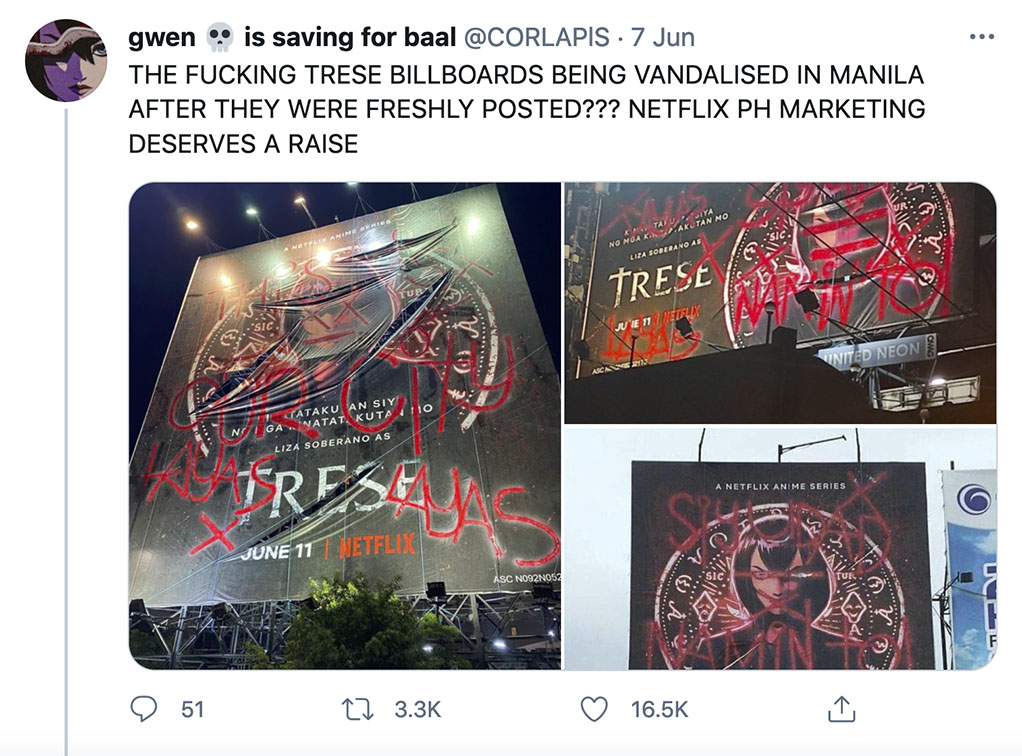 Filipino anime 'Trese' conquers the Philippines with Netflix ad campaign via GIGIL