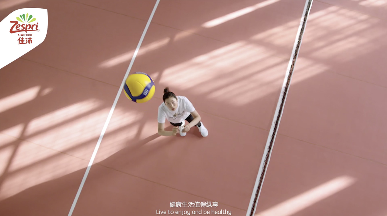 Zespri teams up with Chinese volleyball star Zhu Ting to launch new campaign via VMLY&R China