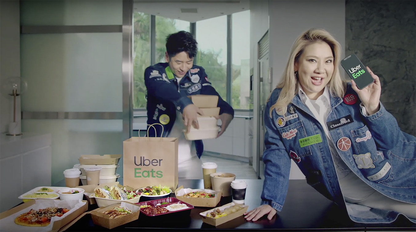 Artists Joyce Cheng and Alfred Hui star in Uber Eats Hong Kong's debut 'Tonight, I'll Be Eating' campaign
