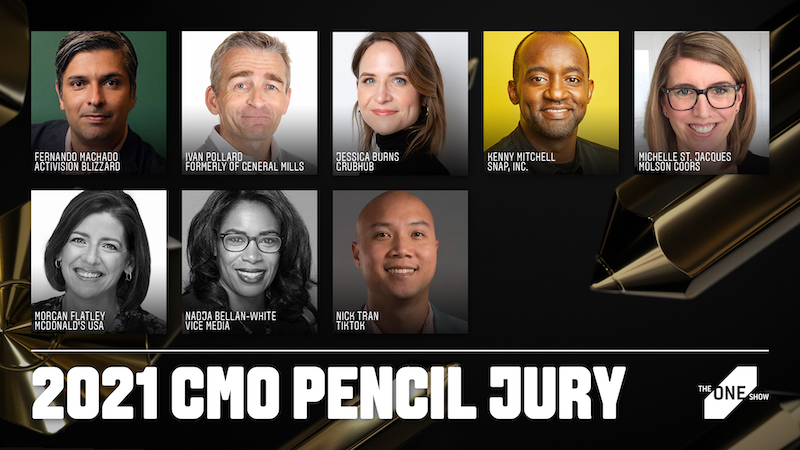 Jury of Leading Marketers to Select The One Show CMO Pencil 2021 Winner on Tuesday, July 20