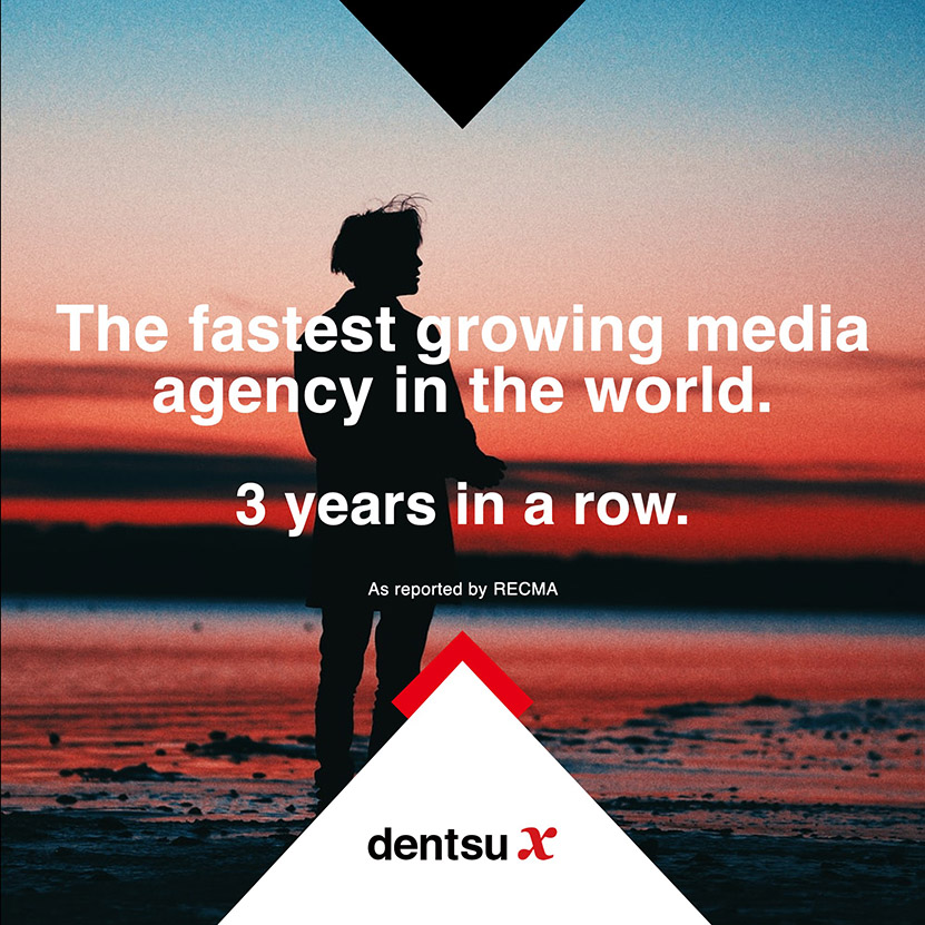 Dentsu X tops RECMA's global rankings for third year as world's fastest growing media agency