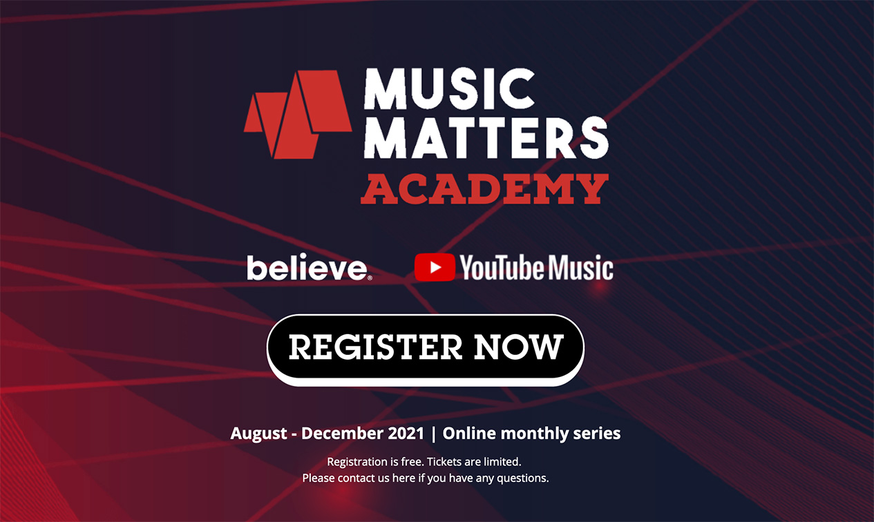 Branded, Believe and YouTube launch the Music Matters Academy online platform