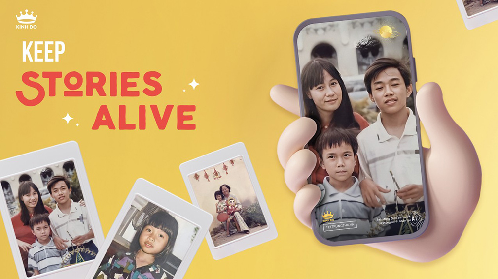 Mondelez Kinh Do partners with Publicis, Spark and Digitas in Vietnam to bring old family photographs to life through technology