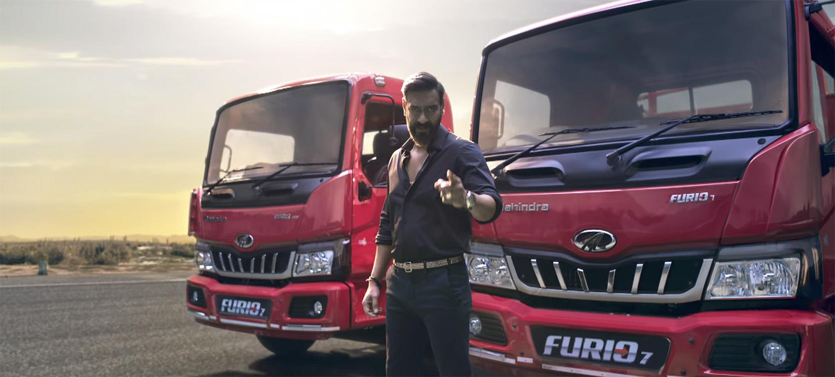 Ajay Devgn re-enacts iconic stunt to launch new Mahindra FURIO 7 range via FCB Interface India