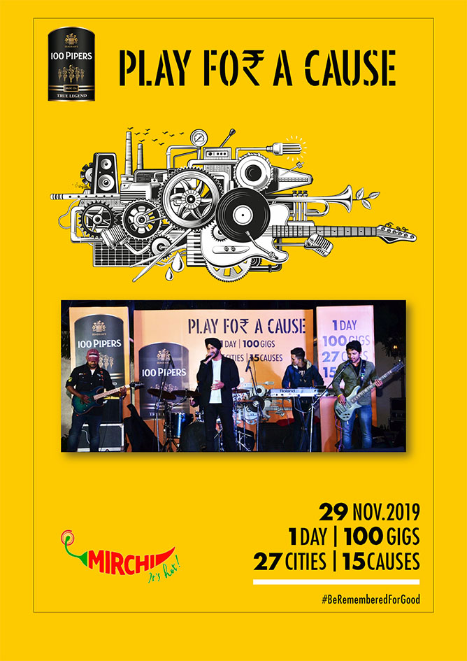 Mirchi's '100 Gigs Play for a Cause' campaign for 100 Pipers enters the Limca Book of Records