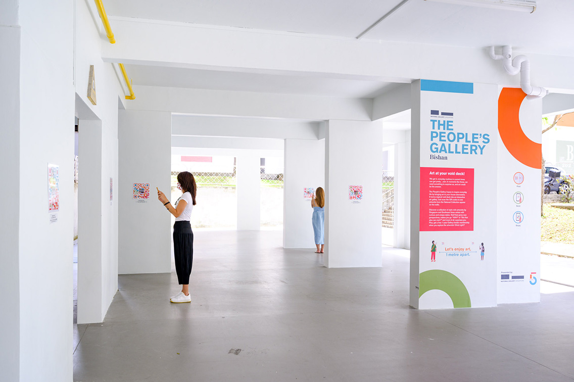 MullenLowe Singapore use AR to transform void public housing decks into The People's Gallery for the National Gallery Singapore