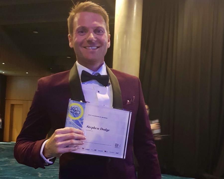 Equilibrium Digital Director Stephen Dodge recognised as a 40 under 40 winner