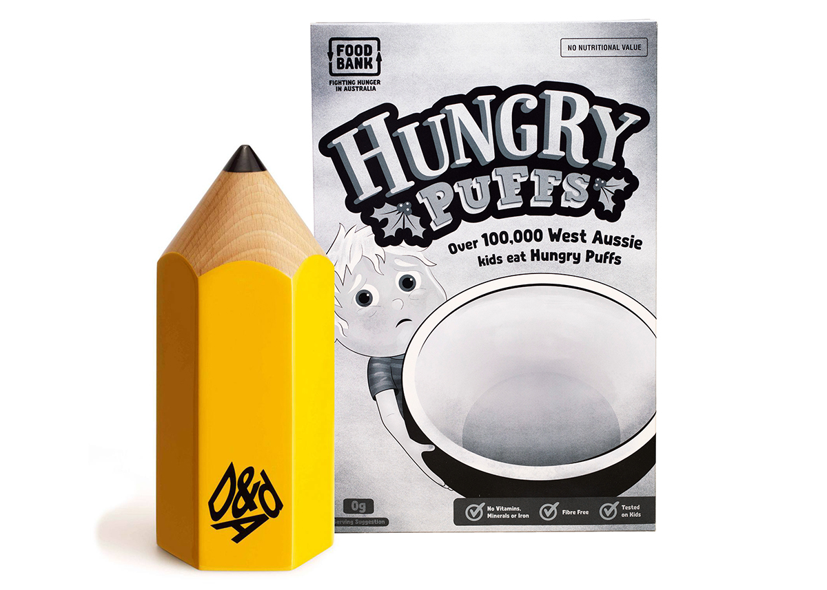 Foodbank WA 'Hungry Puffs' via The Brand Agency scores coveted Yellow Pencil at D&AD