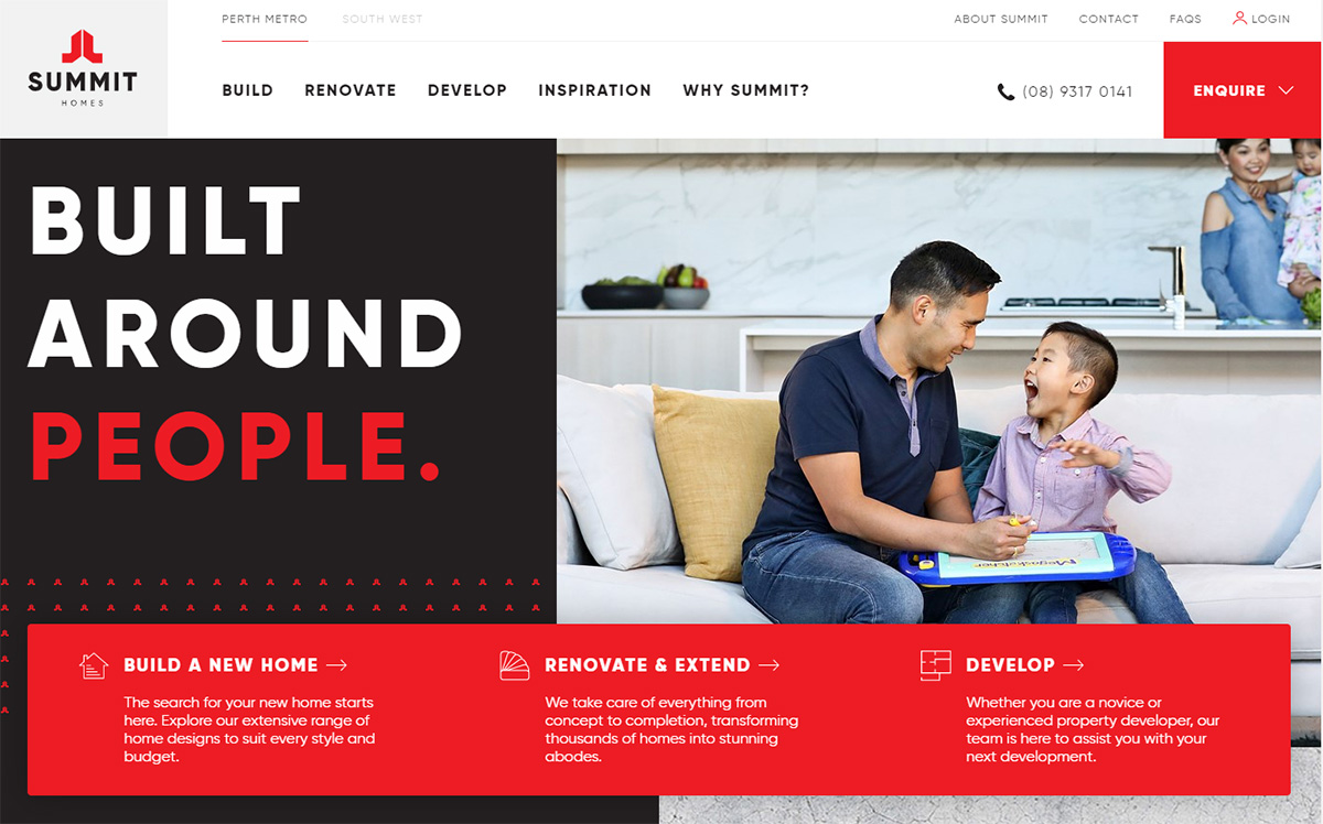 Summit builds new brand strategy and website with agency partners