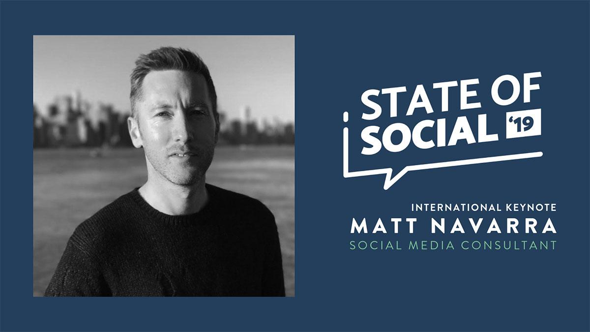 Leading UK social media commentator Matt Navarra talks the 'R' word at State of Social 2019