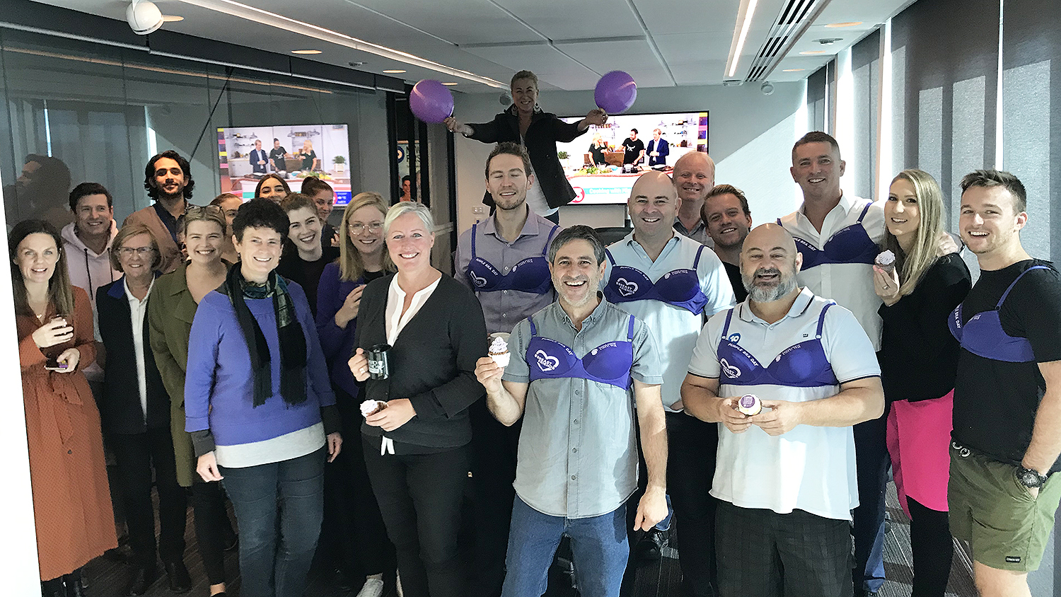Network 10 partners with Breast Cancer Care WA for Purple Bra Day fundraiser