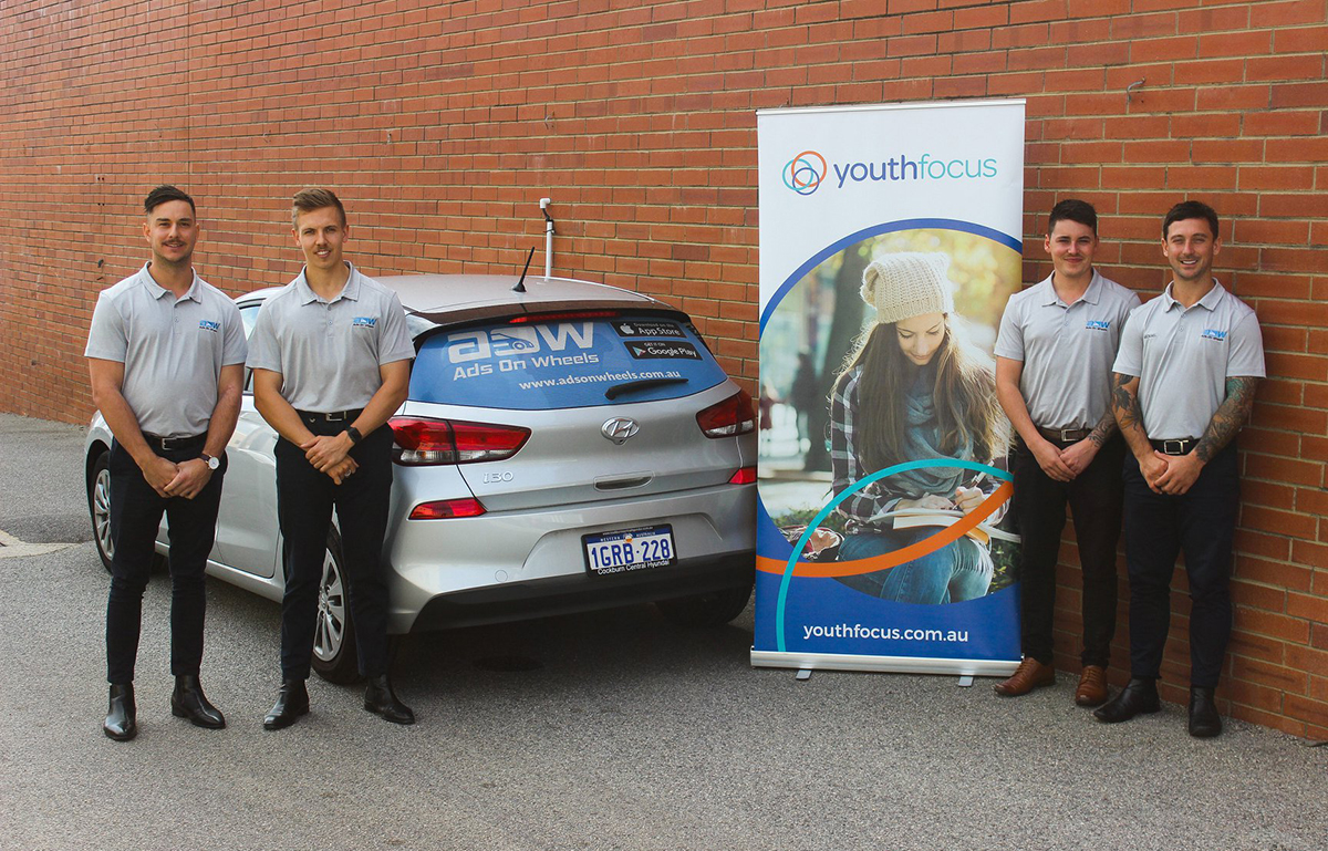 Mobile out of home company Ads on Wheels hits the road in support of Youth Focus