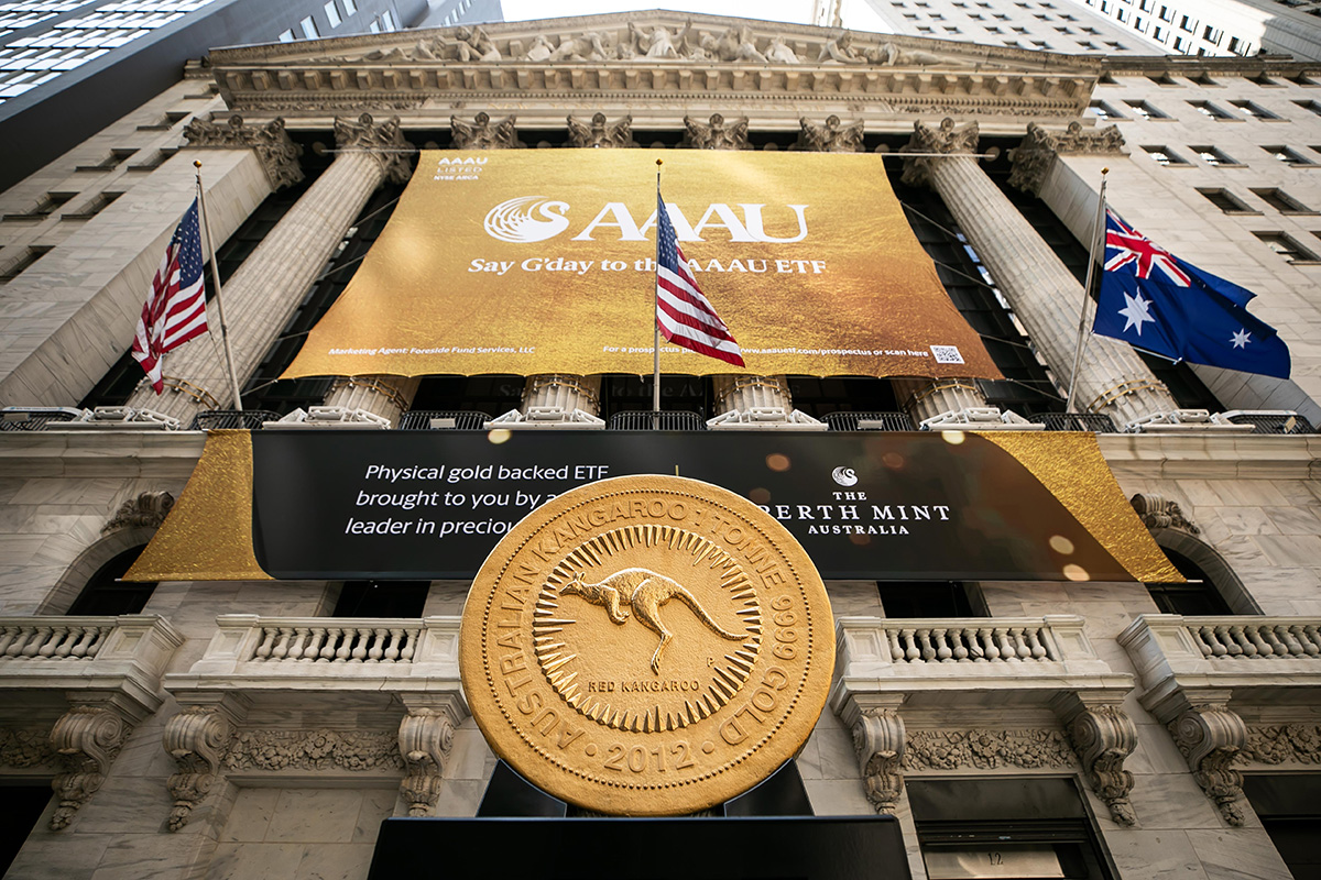 The Brand Agency helps The Perth Mint take-over the New York Stock Exchange to launch new fund