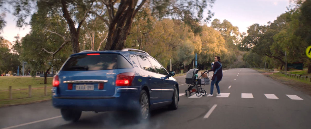 Distracted drivers are confronted with the danger of their bad habits in a clever Road Safety Commission campaign by The Brand Agency